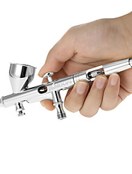Kkmoon 0.25mm gravity feed dual-action airbrush kit set luft pinsel für kunstmalerei tattoo nail art