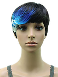 Muti Color Synthetic Hair Wigs Heat Resistant High Temperature  Fiber Woman  Wig