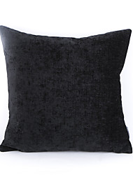 Chenille Pillow Case- Black
