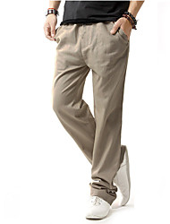 Men's Low Rise Micro-elastic Chinos Pants,Vintage Loose Solid