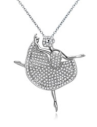 Women's Pendant Necklaces Jewelry Jewelry Zircon Alloy Unique Design Fashion Euramerican Jewelry ForWedding Party Birthday