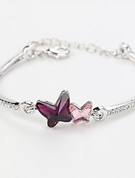 Femme Chaînes & Bracelets Bijoux Naturel Mode Vintage Fait à la main Cristal Alliage Forme Ronde Forme de Coeur Forme d'Animal Bijoux Pour