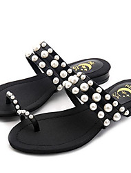 Women's Sandals Comfort Microfibre Spring Casual Screen Color Black White Flat