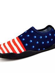 Hombre Zapatos de taco bajo y Slip-Ons Confort Tejido Primavera Otoño Agua Confort Combinación Tacón Plano Pantalla de color 5 - 7 cms