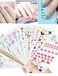 15 Engomada del arte del clavo Etiqueta de transferencia de agua maquillaje cosmético Dise?o de manicura
