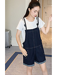 Women's High Waist strenchy Jeans Overalls Pants,Simple Loose Solid