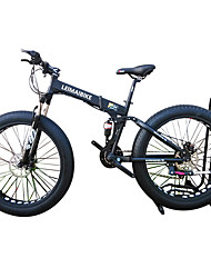 Folding Bike Snow Bike Cycling 21 Speed 26 Inch/700CC 40 mm SHIMANO 51-7 Double Disc Brake Suspension ForkRear Suspension Aluminium Alloy