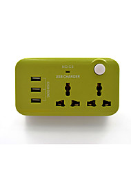 Wireless Power Strip with 3USB Ports Charger 2 Outlets UK Plug EU Plug