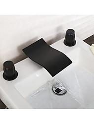 Diffusion large Jet pluie Deux poignées trois trousRobinet de baignoire