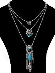 Mujer Chica Collares con colgantes Collares de cadena Collares en capas Zirconia Cúbica Joyas LegierungDiseño Básico Diseño Único