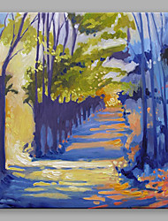 IARTS Oil Painting Modern Abstract Road In The Middle Of Blue Trees Art Acrylic Canvas Wall Art For Home Decoration