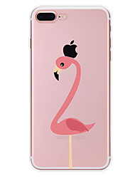 For Apple iPhone 7 7 Plus 6S 6 Plus Case Cover Flamingo Pattern Painted High Penetration TPU Material Soft Case Phone Case