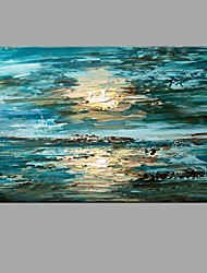 Hand-Painted Abstract Oil Painting Wall Art For Home Office Decoration With Stretcher Frame Ready To Hang
