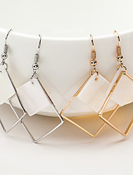 Women's Drop Earrings Jewelry Dangling Style Shell Alloy Square Jewelry For Wedding Party Special Occasion Anniversary Birthday