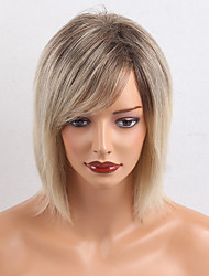 Prevalence Ombre Color Straight Human Hair Wigs For Women