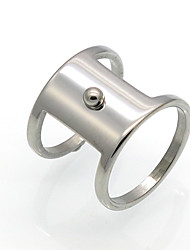 New Fashion Simple 2 Circle Personality Brand Design 316L Stainless Steel  Rings For Women