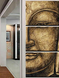 Art Print Abstract Portrait Traditional Three Panels Vertical Print Wall Decor For Home Decoration