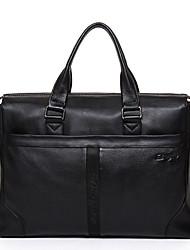 Cowhide Man Business Handbag High Quality Men's Messenger Bag Solid Color Men Tote Transverse Briefcase D8050-1