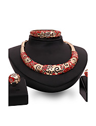 Women's Jewelry Set Rhinestone Imitation Ruby Fashion Vintage Personalized Euramerican Luxury Statement Jewelry Costume Jewelry