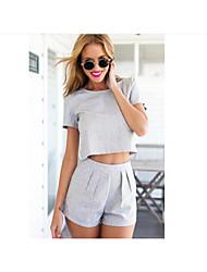 Damen T-Shirt-Ärmel Hose Anzüge Sommer