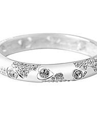 Mulheres Bracelete Jóias Natureza Moda Vintage Confeccionada à Mão Cristal Liga Quadrado Jóias ParaCasamento Festa Aniversário Reunião de
