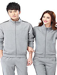 Unisex Long Sleeve Running Tracksuit Breathable Spring Fall/Autumn Sports Wear Running Polyester