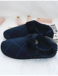 Men's Slippers & Flip-Flops Suede Spring Blue Camel Flat