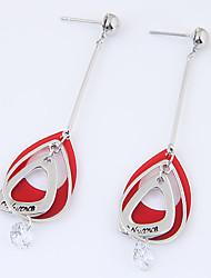 Women's Drop Earrings Cubic Zirconia Euramerican Fashion Alloy Teardrop Jewelry For Party 1 Pair