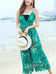 Women's Holiday Jumpsuits,Classic A Line Floral Summer