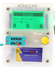 Kkmoon 128 * 64 transistor tester esr lcr diodo triodo triac meter mos ccon rcetroiluminacin lcd