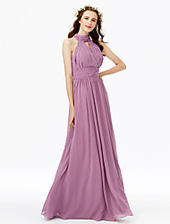 2017 LAN TING BRIDE Floor-length High Neck Bridesmaid Dress - Elegant Sleeveless Chiffon