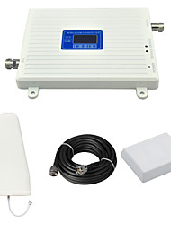 DCS 1800mhz 2G GSM 900mhz Cell Phone Dual Band Signal Booster Amplifier with Log Periodic Antenna / Panel Antenna / Cable / LCD Display / White