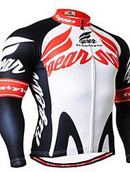 Homme Vélo Vêtements de Compression/Sous maillot Cyclisme Spandex Rayé Eté Cyclotourisme Rouge noir