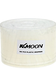 KKmoon 100PCS Airbrush Disposable Eyedroppers Plastic Pipette Eye Droppers for Liquid Transfer and Airbrush Paint