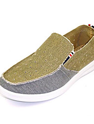 Men's Loafers & Slip-Ons Comfort Denim Fabric Spring Daily Casual Comfort Blue Beige Flat