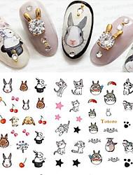1 Стикер искусства ногтя 3-D макияж Косметические Ногтевой дизайн