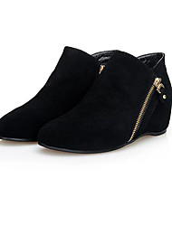 Women's Boots Comfort Suede Spring Casual Black Flat