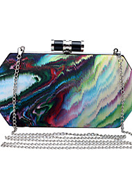 L.west Women Elegant High-grade Watercolor Ink Art Evening Bag