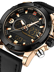 NAVIFORCE Luxury Brand Men Analog Digital Leather Sports Watches Men's Army Military Watch Man Quartz Clock Relogio Masculino Gift Box