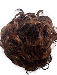 Chiñones rizado sintético peluca extensión de pelo nupcial updo pony tail para las mujeres