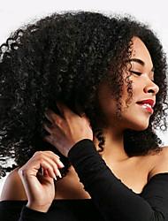 Jerry Curl Pre-loop Crochet Braids Natural Black Hair Braids 14Inch Kanekalon 5 Package For Full Head