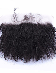 Afro kinky curly Brazilian Human 13x2 inch  Full Lace Frontal Closure Ear to Ear