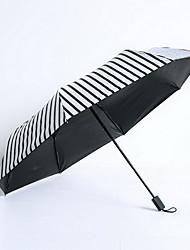 Poly Cute Striped Rain And Rain Umbrella