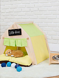 Cat Dog Bed Pet Mats & Pads Stripe Stars Animal Patchwork Soft Tent Random Color