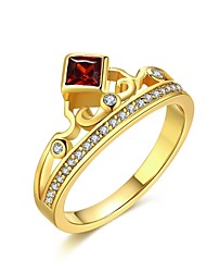 Ring AAA Cubic ZirconiaBasic Unique Design Rhinestone Natural Geometric Square Friendship Cute Style Euramerican Crossover Fashion