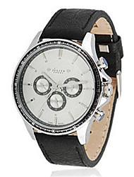 Men's Sport Watch Fashion Watch Bracelet Watch Quartz Water Resistant / Water Proof Genuine Leather Band Black Brown Gold
