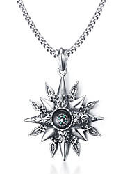 Men's Pendant Necklaces Statement Necklaces Stainless Steel Titanium Steel Euramerican Fashion Compass Casual Unqiue Jewelry