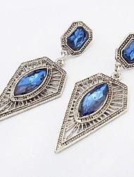 Euramerican Fashion Rock Sexy Rhinestone Square Triangle Earrings  Lady Party Drop Earrings Statement Jewelry