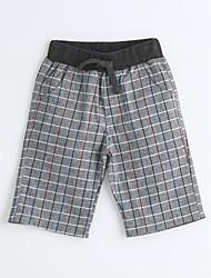 Pantalons Garçon Pied-de-poule Coton Eté