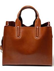 Women Shoulder Bag PU All Seasons Baguette Zipper Brown